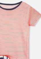 Cotton On - Joshua short sleeve pyjama set - red