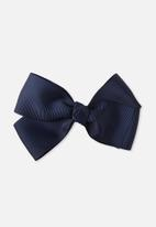 Cotton On - Big bow clips - navy