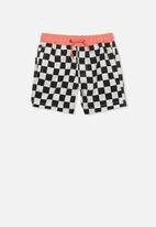 Cotton On - Murphy swim short - black & white