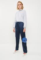 Missguided - Satin utility trousers - navy