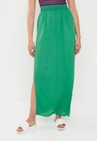 Missguided - Split maxi skirt - green