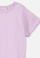 Cotton On - Short sleeve billie tee - purple & white