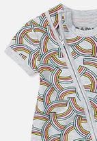 Cotton On - Mini short sleeve zip through - grey