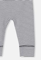 Cotton On - Newborn legging - black & white