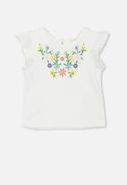 Cotton On - Gigi flutter top - white