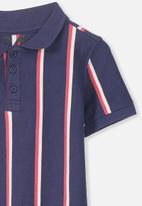 Cotton On - Kenny polo - navy & red
