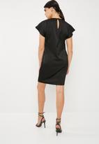 Superbalist - Sheath dress with pleat detail - black