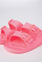 Cotton On - Twin strap slide - pink