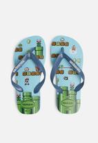 Havaianas - Kids Mario bro's sandals - blue