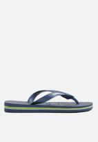 Havaianas - Kids Brazil logo sandals - blue