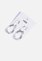 Cotton On - Multi link metal earrings - silver