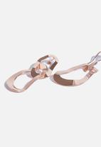 Cotton On - Multi link metal earrings - rose gold