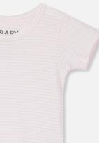 Cotton On - New born short sleeve bubbysuit - pink