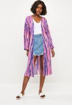 Missguided - Tie dye kimono - multi