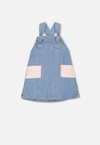 Cotton On - Penelope pinafore - blue