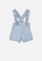 Cotton On - Evie ruffle strap short - blue