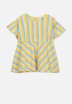 Cotton On - Molly ruffle dress - blue & pink