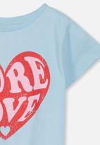 Cotton On - Penelope more love short sleeve  - blue
