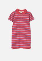 Cotton On - Blaire polo dress - red