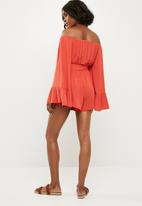 Missguided - Bardot playsuit - orange