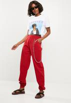 Missguided - Whitney graphic crop T-shirt - white