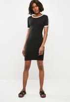 Missguided - Sports stripe bodycon T-shirt dress - black
