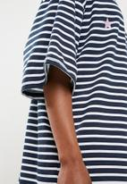 Missguided - Oversized short sleeve T-shirt dress - navy & white
