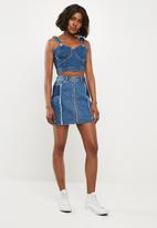 Missguided - Dungaree bralette  - blue