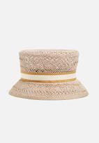 Superbalist - Twiss straw bucket hat - natural