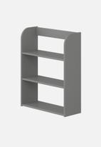 Clever Little Monkey - Play wall shelf 3 tier - urban grey