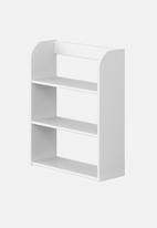 Clever Little Monkey - Play wall shelf 3 tier - white