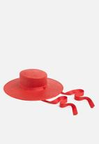 Superbalist - Bolero hat with long trim - red