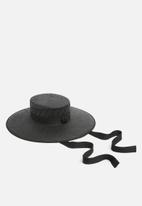 Superbalist - Bolero hat with long trim - black