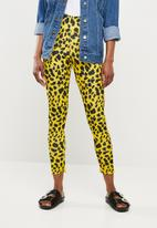 Missguided - Leopard print cigarette trousers - yellow & black