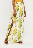 Missguided - Split maxi skirt floral - multi