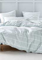Linen House - Leonard duvet cover set - aqua