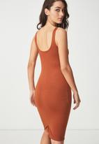 Cotton On - Kimi summer scooped midi dress - orange