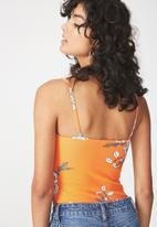 Cotton On - Carissa summer straight back bodysuit - orange