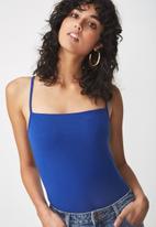 Cotton On - Carissa summer  straight bodysuit - blue