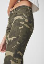 Cotton On - Mid rise grazer skinny jean - camo