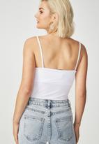 Cotton On - Carissa summer straight back bodysuit - white