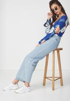 Cotton On - Willow summer rouched front blouse - blue