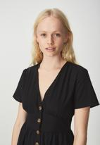 Cotton On - Woven summer midi dress - black
