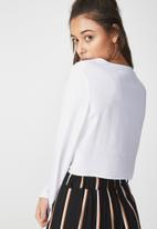 Cotton On - Willow summer rouched front blouse - white