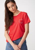 Cotton On - Tbar fox graphic T-shirt - red