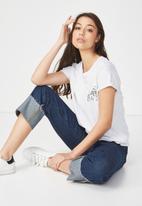 Cotton On - Tbar fox graphic T-shirt - grey
