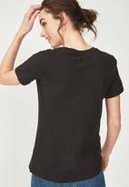 Cotton On - Tbar fox graphic T-shirt - black