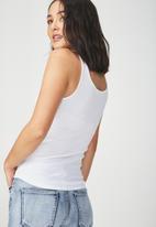 Cotton On - Everyday summer femme tank - white