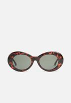 Superbalist - Ilze oval sunglasses - brown