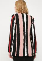 Missguided - Boyfriend blazer - pink & black
